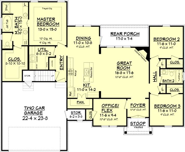 European Floor Plan - Main Floor Plan Plan #430-89
