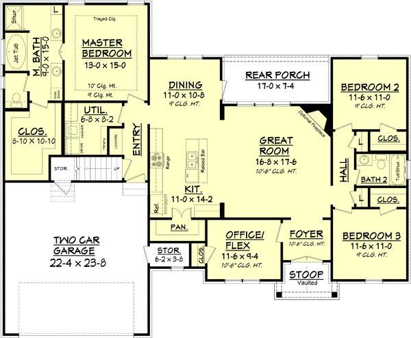 Architectural House Design - European Floor Plan - Main Floor Plan #430-89
