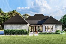 Dream House Plan - Country Exterior - Rear Elevation Plan #406-9658