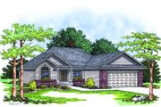 Traditional Style House Plan - 3 Beds 2 Baths 1495 Sq/Ft Plan #70-136 Exterior - Front Elevation