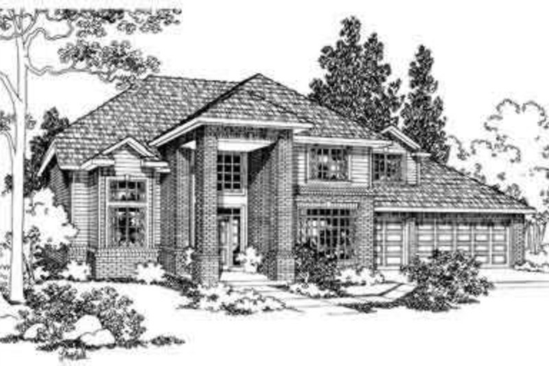 Exterior - Front Elevation Plan #124-327
