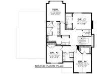 European Floor Plan - Upper Floor Plan Plan #70-1181
