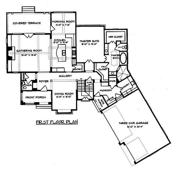 European Floor Plan - Main Floor Plan Plan #413-133