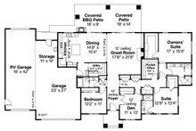 Craftsman Floor Plan - Main Floor Plan Plan #124-1167