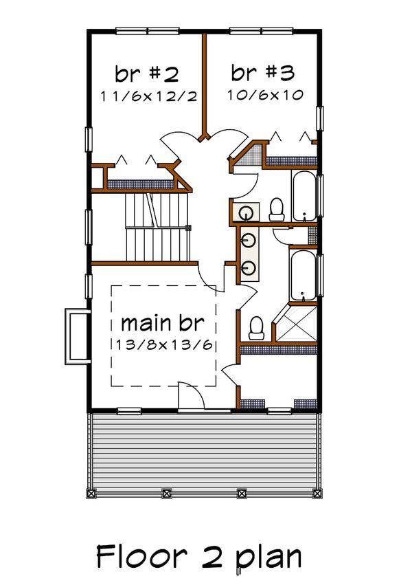 Bungalow Floor Plan - Main Floor Plan Plan #79-213