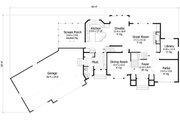 European Style House Plan - 4 Beds 2.5 Baths 3150 Sq/Ft Plan #51-461 Floor Plan - Main Floor Plan