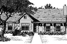 Home Plan - Traditional Exterior - Front Elevation Plan #14-145