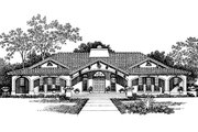 Mediterranean Style House Plan - 3 Beds 2.5 Baths 2539 Sq/Ft Plan #72-150 Exterior - Front Elevation