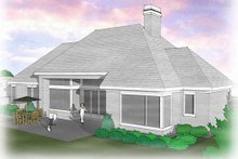 Home Plan - Traditional Exterior - Rear Elevation Plan #48-506