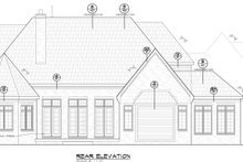 European Exterior - Rear Elevation Plan #20-2203
