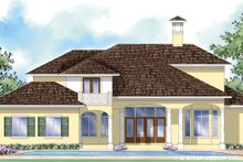 House Design - Mediterranean Exterior - Rear Elevation Plan #930-278