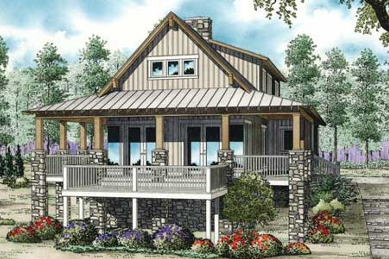 Farmhouse Style House Plan - 3 Beds 2.5 Baths 2207 Sq/Ft Plan #17-2359 Exterior - Front Elevation
