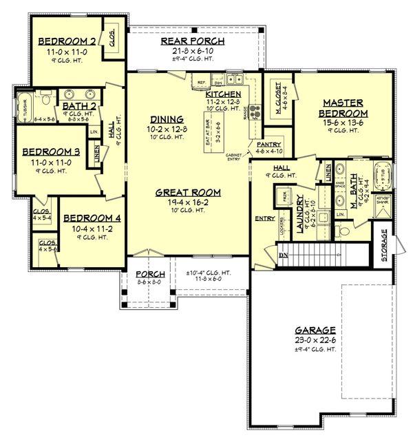 Dream House Plan - Basement Stair Location