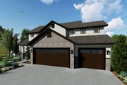 Traditional Style House Plan - 3 Beds 2.5 Baths 2176 Sq/Ft Plan #1060-37 Exterior - Front Elevation