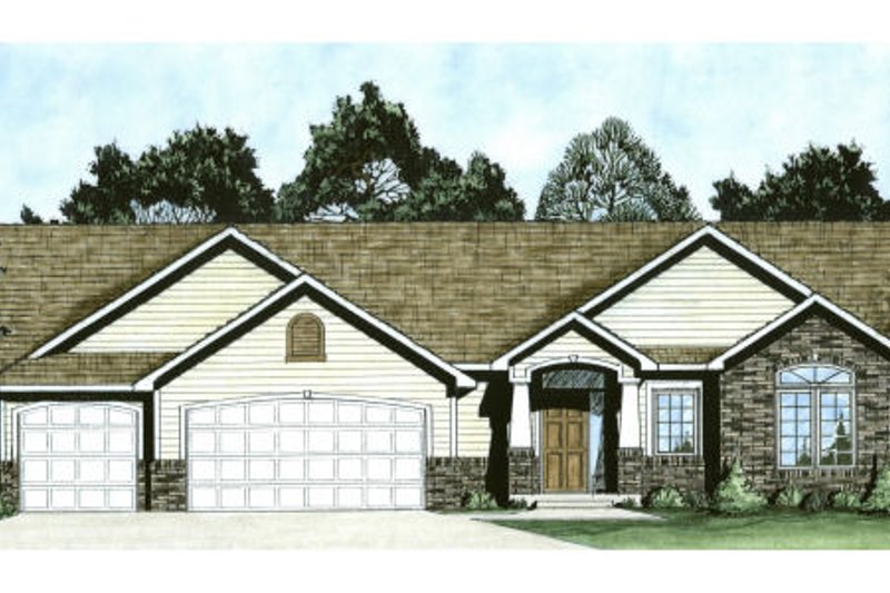 Architectural House Design - Traditional Exterior - Front Elevation Plan #58-189