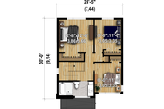 Contemporary Style House Plan - 3 Beds 1.5 Baths 1400 Sq/Ft Plan #25-4898
