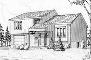 Colonial Style House Plan - 3 Beds 1 Baths 1269 Sq/Ft Plan #25-4259 Exterior - Front Elevation