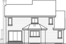 Home Plan - Contemporary Exterior - Rear Elevation Plan #23-723