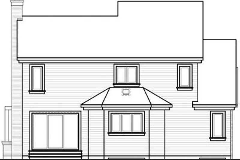 Contemporary Exterior - Rear Elevation Plan #23-723 - Houseplans.com