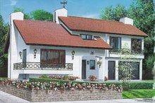 Dream House Plan - Mediterranean Exterior - Front Elevation Plan #23-203