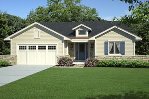 Home Plan Design - Traditional Exterior - Front Elevation Plan #46-458