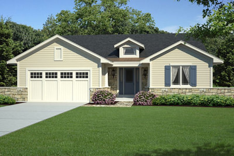Traditional Exterior - Front Elevation Plan #46-458 - Houseplans.com