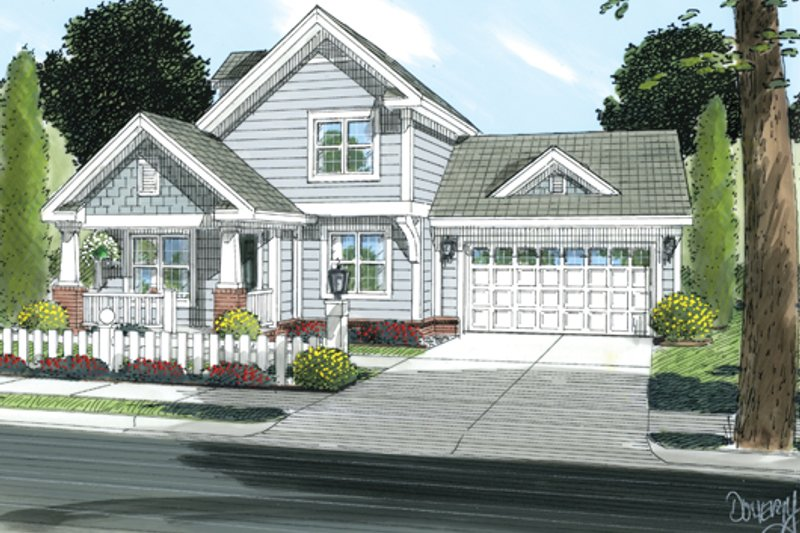 Craftsman Exterior - Front Elevation Plan #513-2054