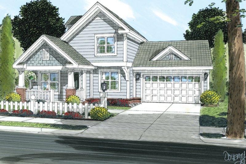 House Plan Design - Craftsman Exterior - Front Elevation Plan #513-2054
