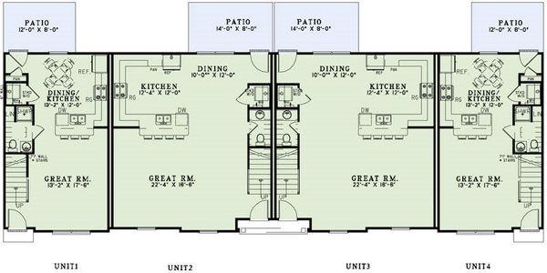 European Floor Plan - Main Floor Plan Plan #17-2455