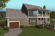 Craftsman Style House Plan - 4 Beds 3 Baths 2659 Sq/Ft Plan #56-707 Exterior - Rear Elevation