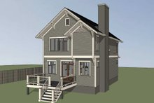 Dream House Plan - Craftsman Exterior - Rear Elevation Plan #79-295