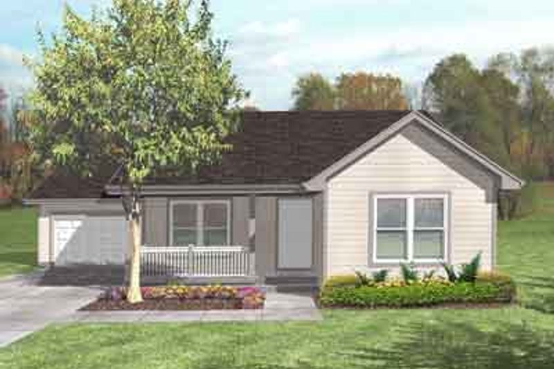 Traditional Style House Plan - 3 Beds 1 Baths 1069 Sq/Ft Plan #50-271 Exterior - Front Elevation