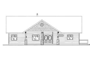Cabin Exterior - Front Elevation Plan #117-763
