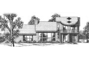 Modern Style House Plan - 2 Beds 3 Baths 2692 Sq/Ft Plan #52-205 Exterior - Other Elevation
