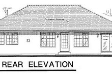 European Exterior - Rear Elevation Plan #18-188