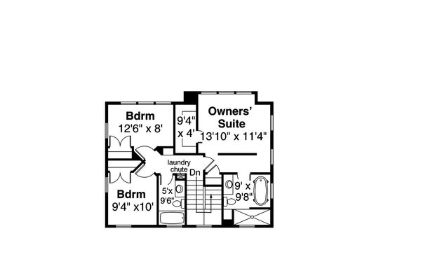 House Plan Design - Contemporary Floor Plan - Upper Floor Plan #124-1169
