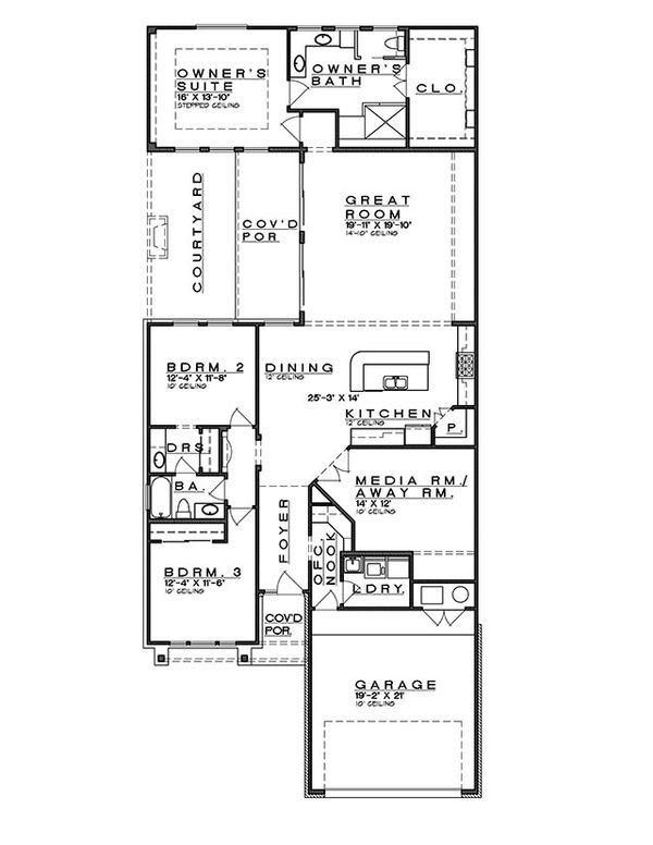 Bungalow Floor Plan - Main Floor Plan Plan #935-8