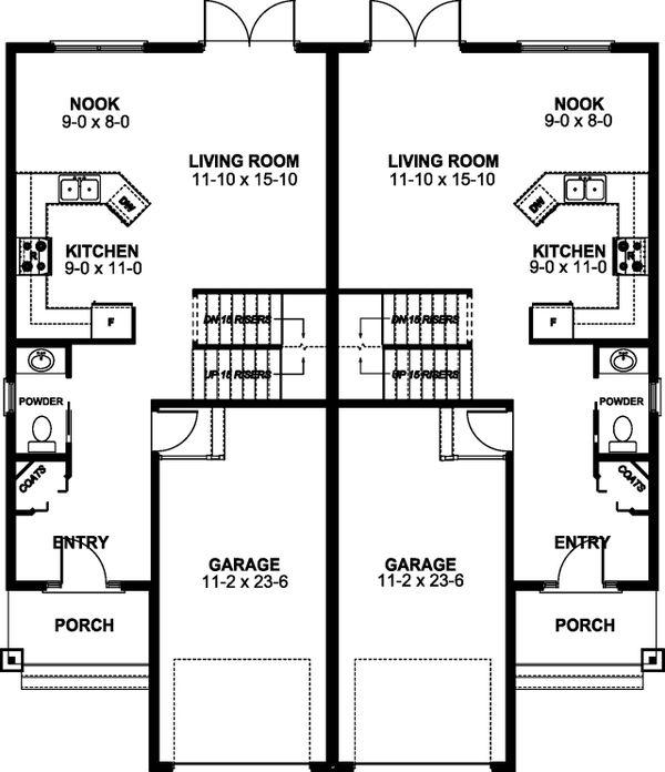 Craftsman Floor Plan - Main Floor Plan #126-196