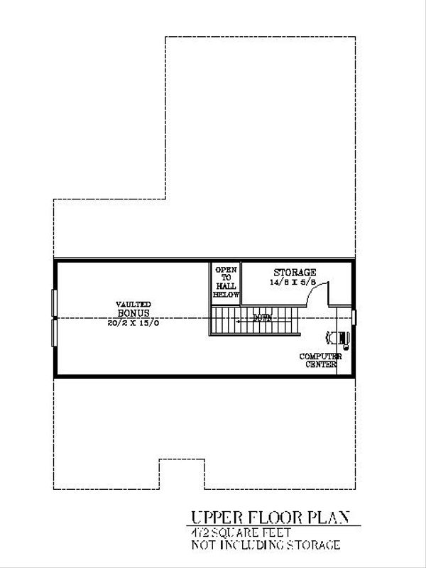 Bungalow Floor Plan - Upper Floor Plan #53-421