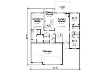 Ranch Floor Plan - Main Floor Plan Plan #20-2321