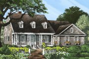 Country Style House Plan - 4 Beds 3 Baths 2272 Sq/Ft Plan #137-182 Exterior - Front Elevation