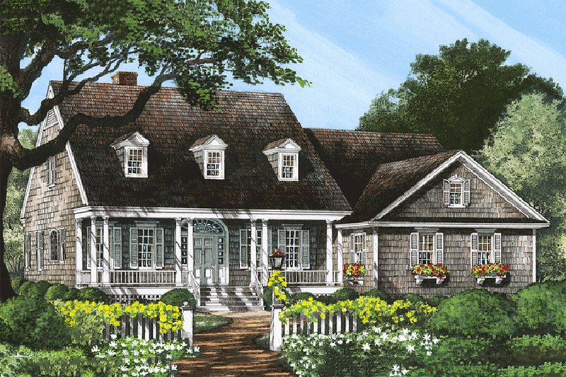 Home Plan - Country Exterior - Front Elevation Plan #137-182
