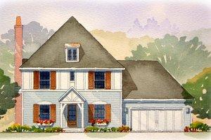 Tudor Exterior - Front Elevation Plan #901-80
