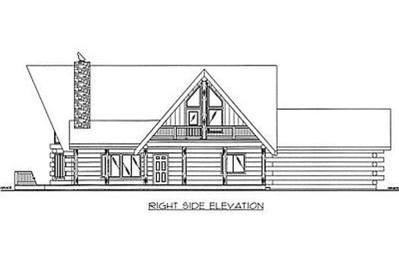 Log Exterior - Other Elevation Plan #117-503 - Houseplans.com