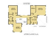 Contemporary Floor Plan - Upper Floor Plan Plan #1066-62