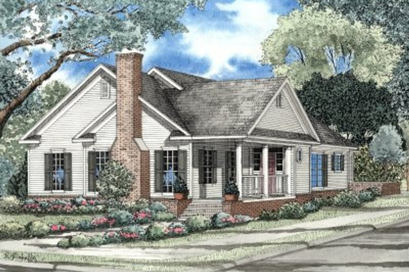 Dream House Plan - Traditional Exterior - Front Elevation Plan #17-142