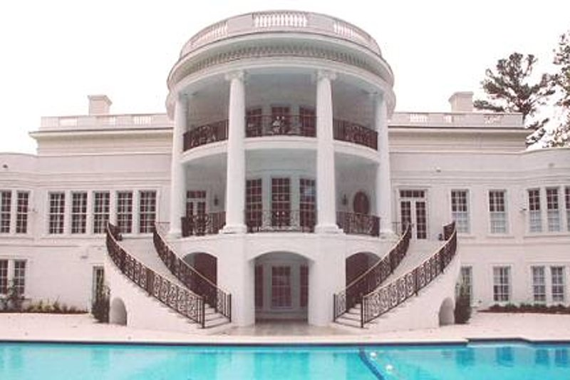 Classical Exterior - Rear Elevation Plan #119-189 - Houseplans.com