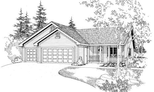 Traditional Exterior - Front Elevation Plan #124-656