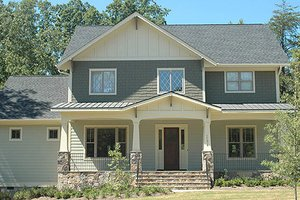 Craftsman Exterior - Front Elevation Plan #413-117