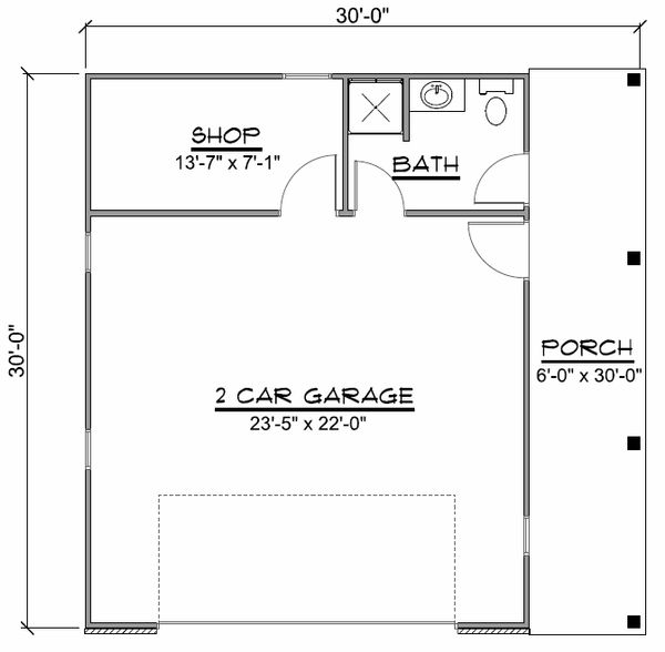 Country Floor Plan - Main Floor Plan Plan #1064-51